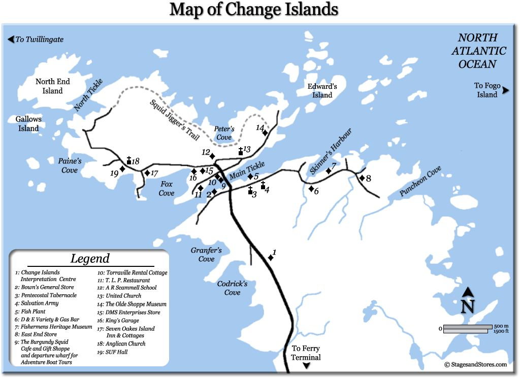 Change Islands and surrounding area
